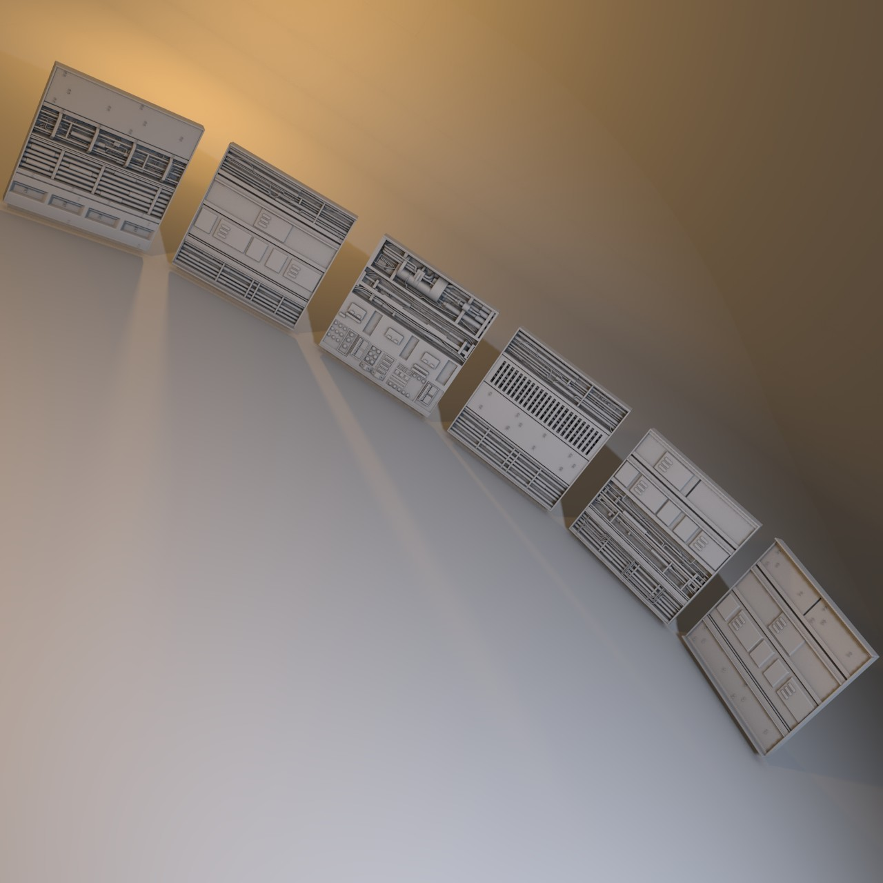 set greebles nurnies 3d model