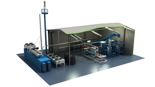 biomass facility engineering 3d model