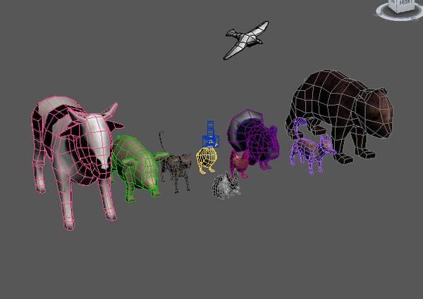 animals 3d model