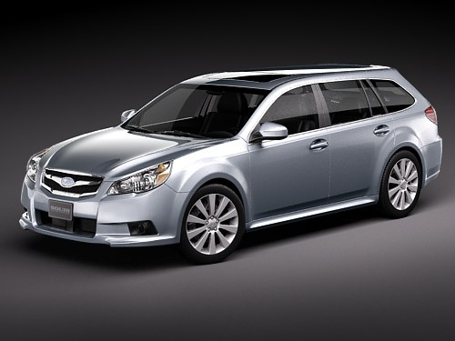 subaru legacy station wagon 3d model