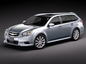 subaru legacy station wagon 3d model