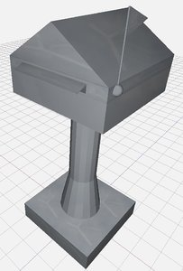 letterbox mailbox 3d model