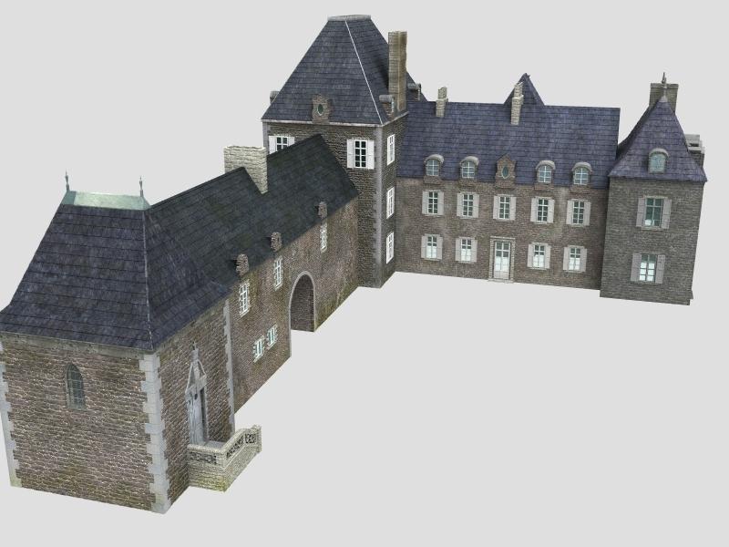 historical castles centuries 3d model