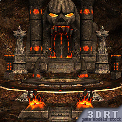 molten chasm dungeon 3d model