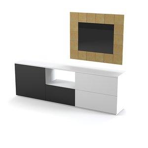besana modern chest 3d model