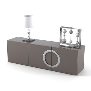 minotti archipenko dresser 3d model