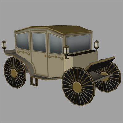 free obj model old carriage