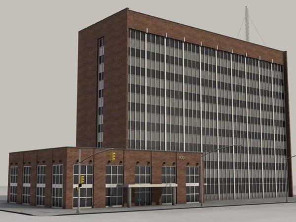 office block 3d model