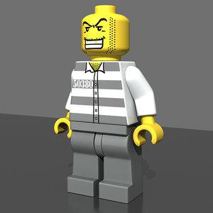 lego prisoner police 3d model