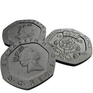 british pence 1995 3d model