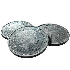 british 10 pence 2007 3d model