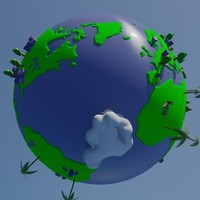 stylized earth 3d model
