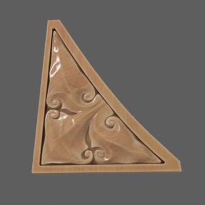 spandrel wooden 3d model
