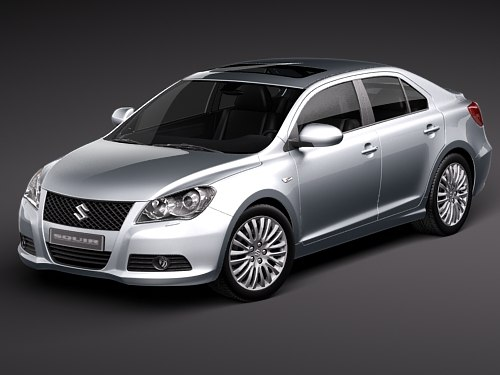 suzuki kizashi sedan 3d model