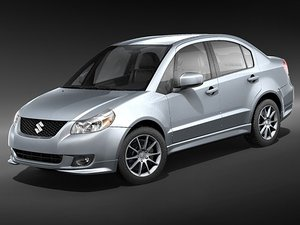 suzuki sx4 sedan 3d model