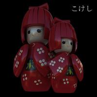 japanese doll 3d model