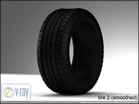 tire wheels 2 3d model