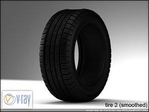tire wheels 2 3d model
