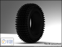 tire wheels 36 3d model