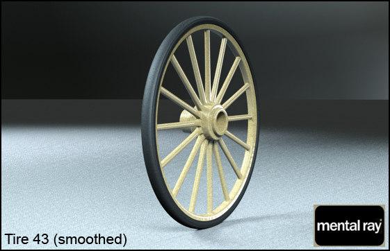 tire wheels 43 3d model