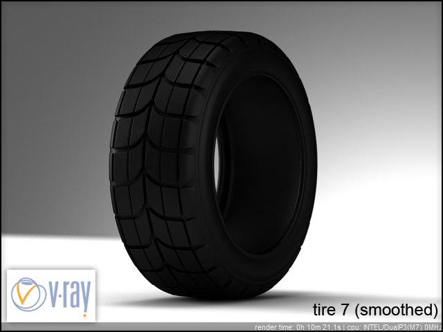 tire wheels 7 3d model