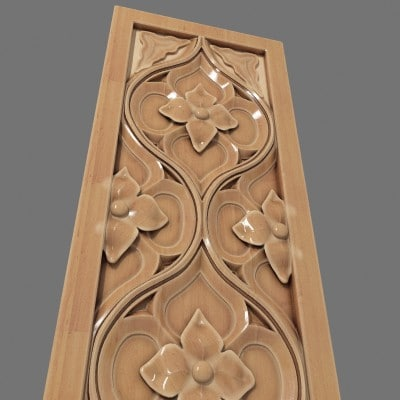wooden tracery 1 decoration 3d model