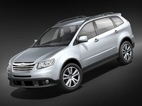 subaru tribeca suv midpoly 3d model