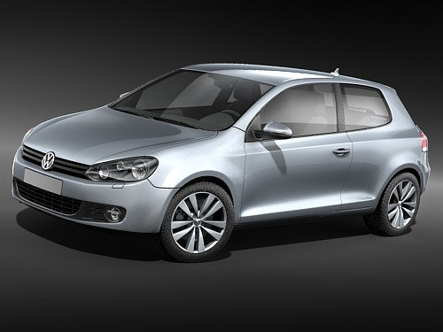 golf volkswagen vi 3d model