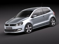 volkswagen polo 3d model