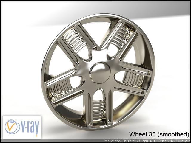 wheel 30 3d model