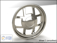 wheel 3 3d model
