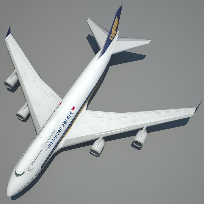 boeing 747-400 modeled simulation 3d model