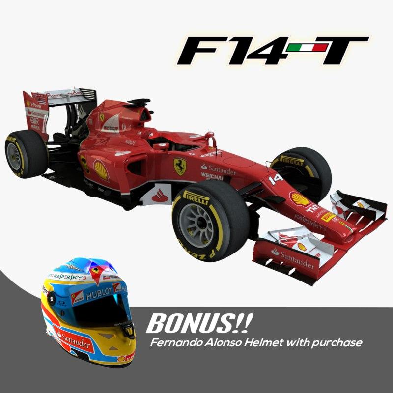 2014 f1 ferrari f14 3d model