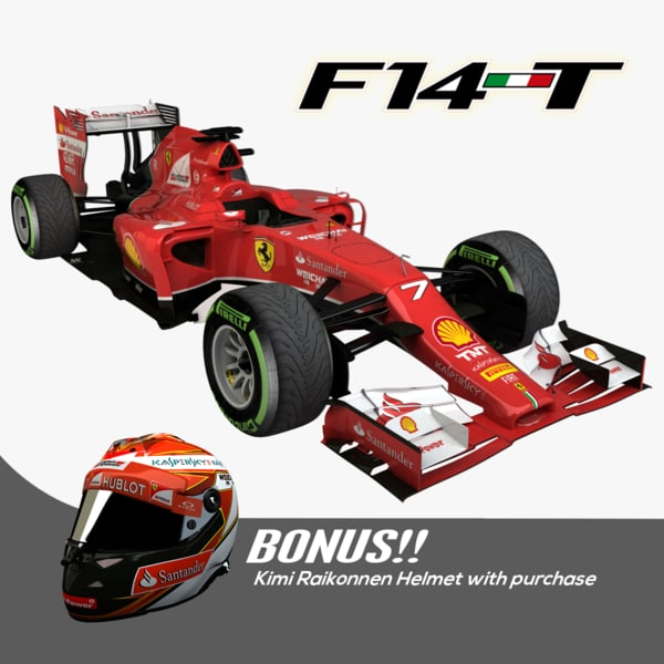 3d 2014 f1 ferrari f14 model