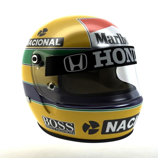 Ayrton Senna Helmet 1988