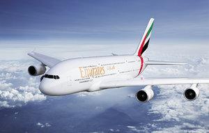 3d max airbus a380 emirates