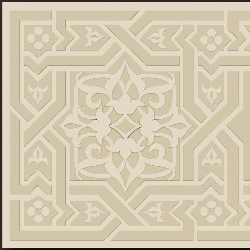 3ds max arabesque decor