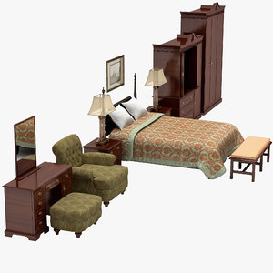hotel furniture set 3ds