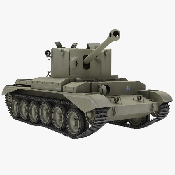 Cruiser Tank Mk VIII Challenger United Kingdom 2 Rigged
