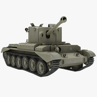 3d model cruiser tank mk viii