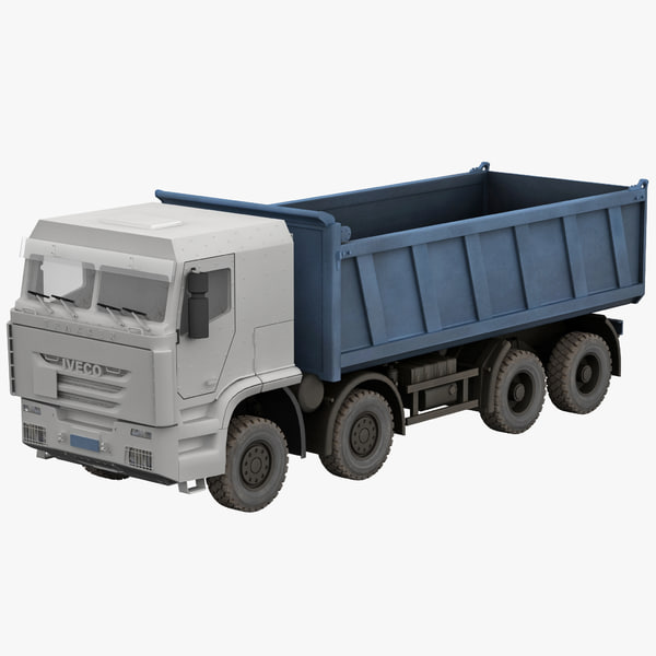 iveco trakker tipper 3d model
