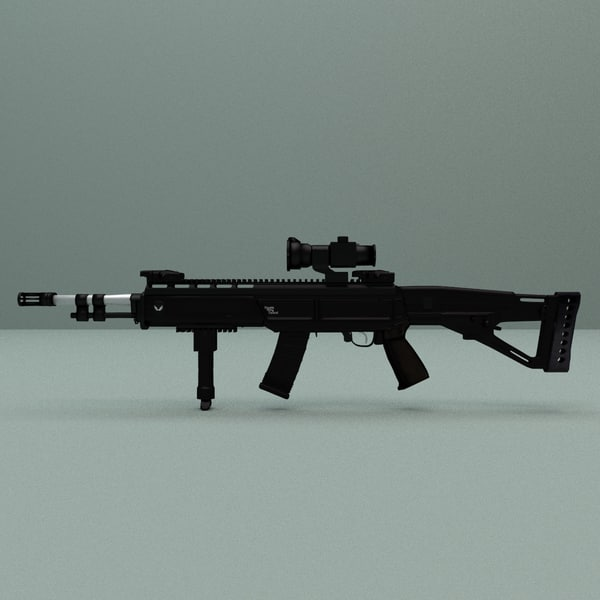 obj military assault rifle