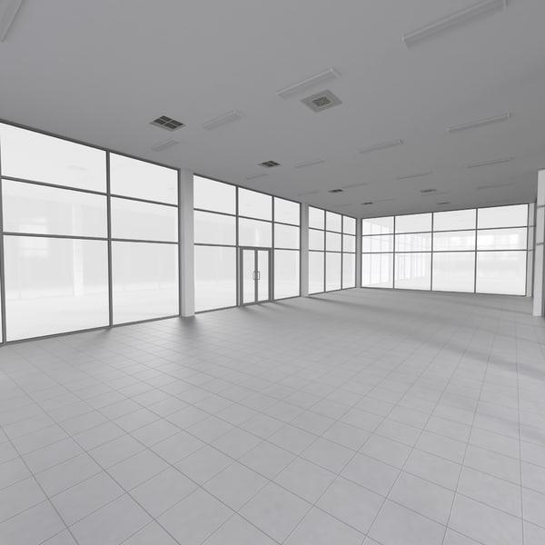 3d showroom 2 model