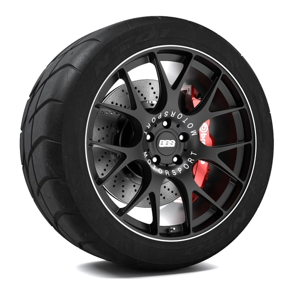 bbs ch-r wheel 3d model