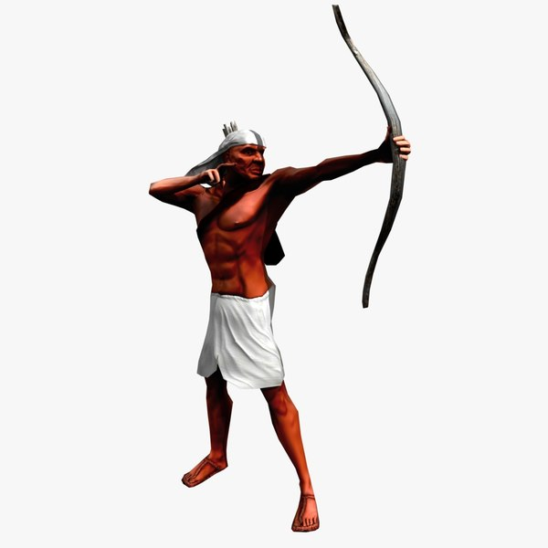 maya egyptian archer animation pack 2