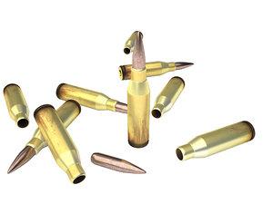 3ds max bullet 50 cal