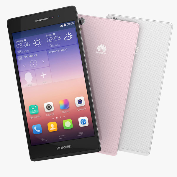 Huawei Ascend P7 Black, White And Pink