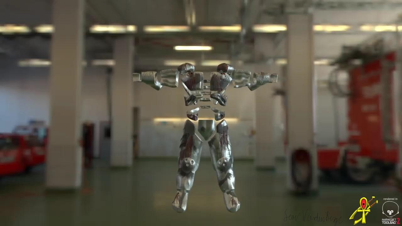 free armor set body 3d model