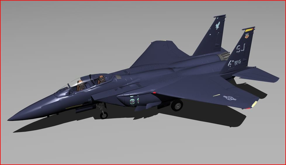3d model f-15 fighter