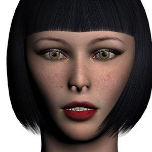 v 1 0 realistic female 3d model